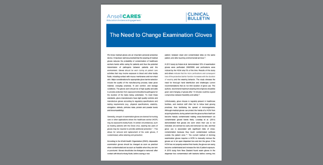 The Need to Change Examination Gloves