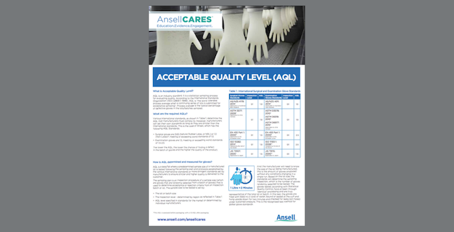 ACCEPTABLE QUALITY LEVEL (AQL)