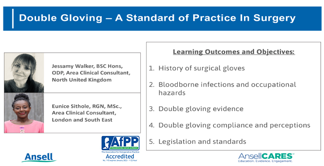 Double Gloving Presentation AfPP Objectives