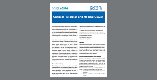 Chemical Allergies and Medical Gloves