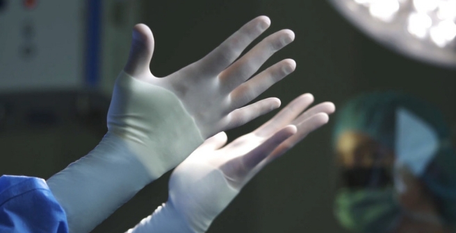 GAMMEX PI Hybrid Gloved Hands Product Image
