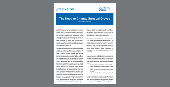 The Need to Change Surgical Gloves