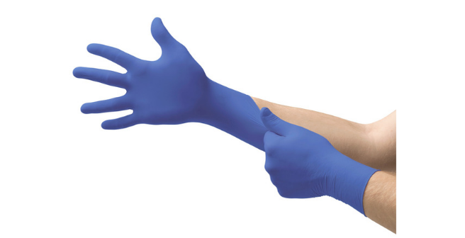 MICRO-TOUCH Blue Nitrile Blue Product - Donning Glove