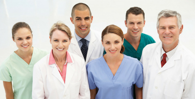 Group of Healthcare Workers Stock Image