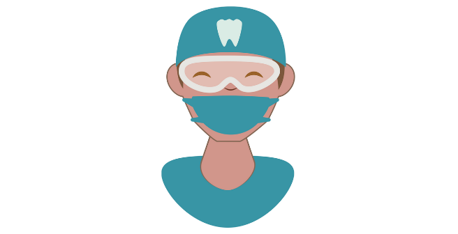 Icon of person in dental gear
