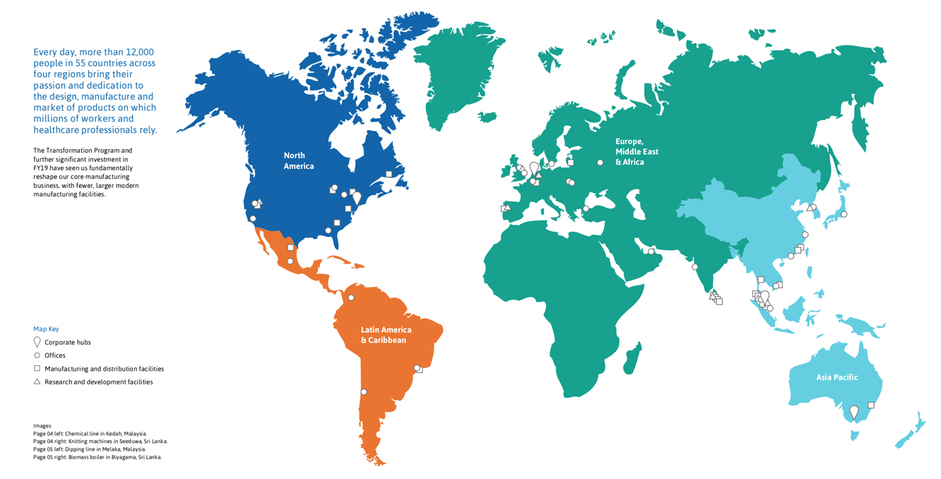 our global footprint header
