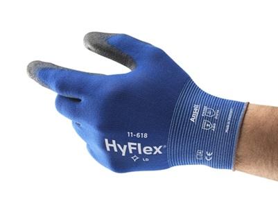 Tama/ño 6 Ansell HyFlex 11-840 // 6 Multiusos Guante Bolsa de 12 Pares Gris Protecci/ón Mec/ánica