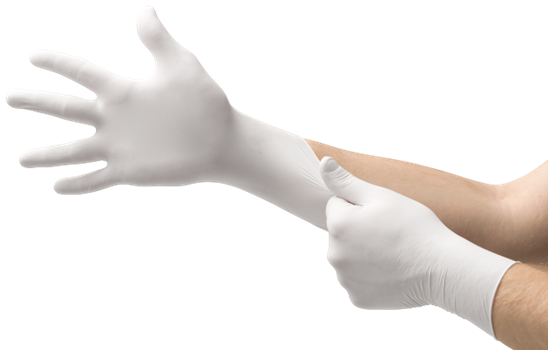 MICRO-TOUCH Nitrile White Gloves
