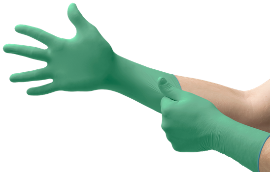 6 Units Green 7.5-8 Mechanics and DIY use Chemical Resistant Nitrile//Neoprene Size M Industrial Ansell Microflex 93-260 Disposable Gloves