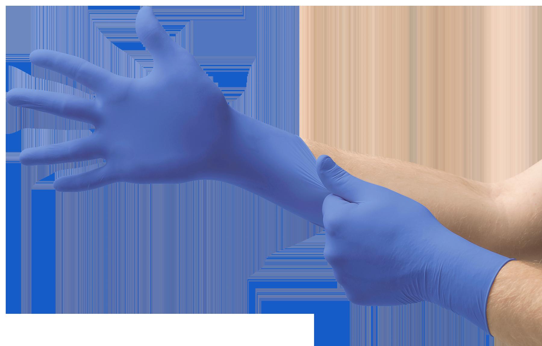 Cobalt Powder-Free Examination Gloves M