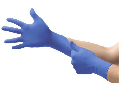Microflex_N21_CobaltX_GloveStretch