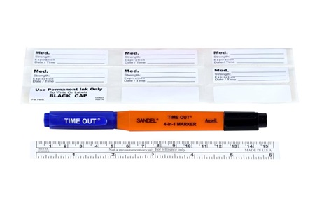 SANDEL® 4-in-1™ Marker with Labels and Ruler