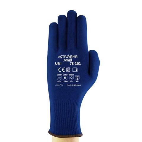 Ansell 78-102//7 VersaTouch Resistencia al fr/ío y al calor guante Protecci/ón contra productos qu/ímicos y l/íquidos bolsa de 12 pares Tama/ño 7 Azul