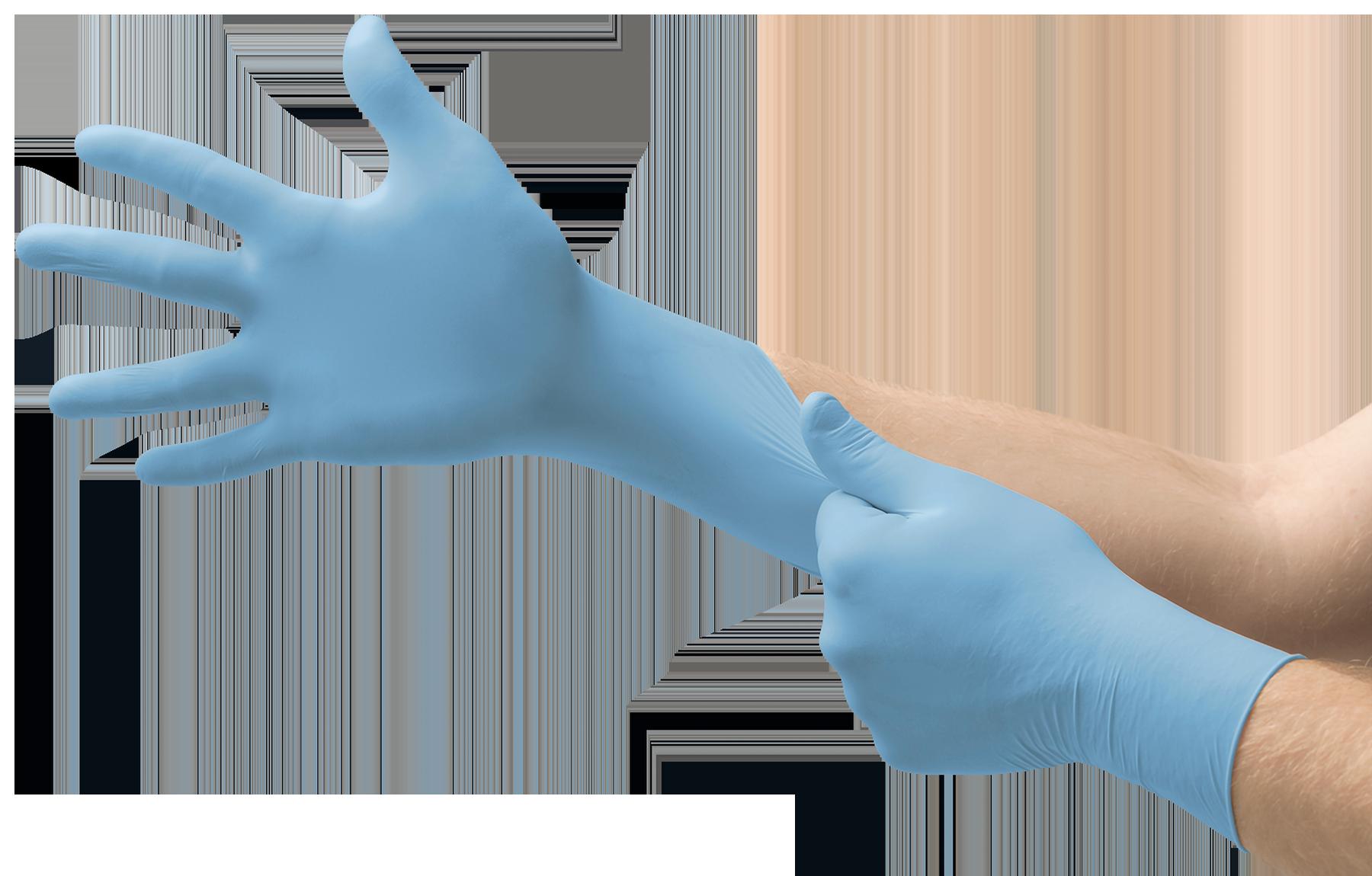 Ansell VersaTouch 92-481 Nitril Handschuhe 100 Handschuhe pro Spender Hellblau Chemikalien- und Fl/üssigkeitsschutz Gr/ö/ße 6.5-7